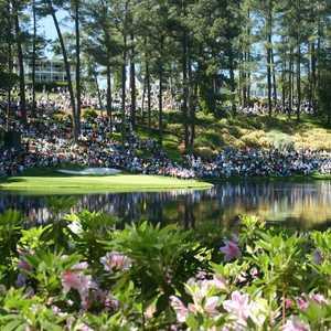Augusta National Par-3: Golf fans during the Par-3 Contest