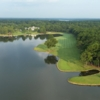 Aerial view of the 18th fairway at Great Waters Course from Reynolds Plantation