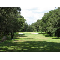 No. 14 at the Okefenokee Country Club is a narrow par 3 to a well-guarded green.