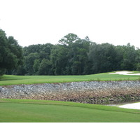 The 15th hole at the Okefenokee Country Club has a tee shot over the Satilla River.