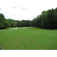 The first hole at Lost Plantation Golf Club in Rincon, Ga. gives you a tiny little spot to put your drive.