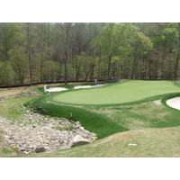 It's a one-penalty stroke if you land in the rock bunker at Bear's Best Atlanta.