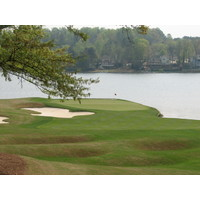 Lake Windward really comes into play on the back nine at the Golf Club of Georgia.